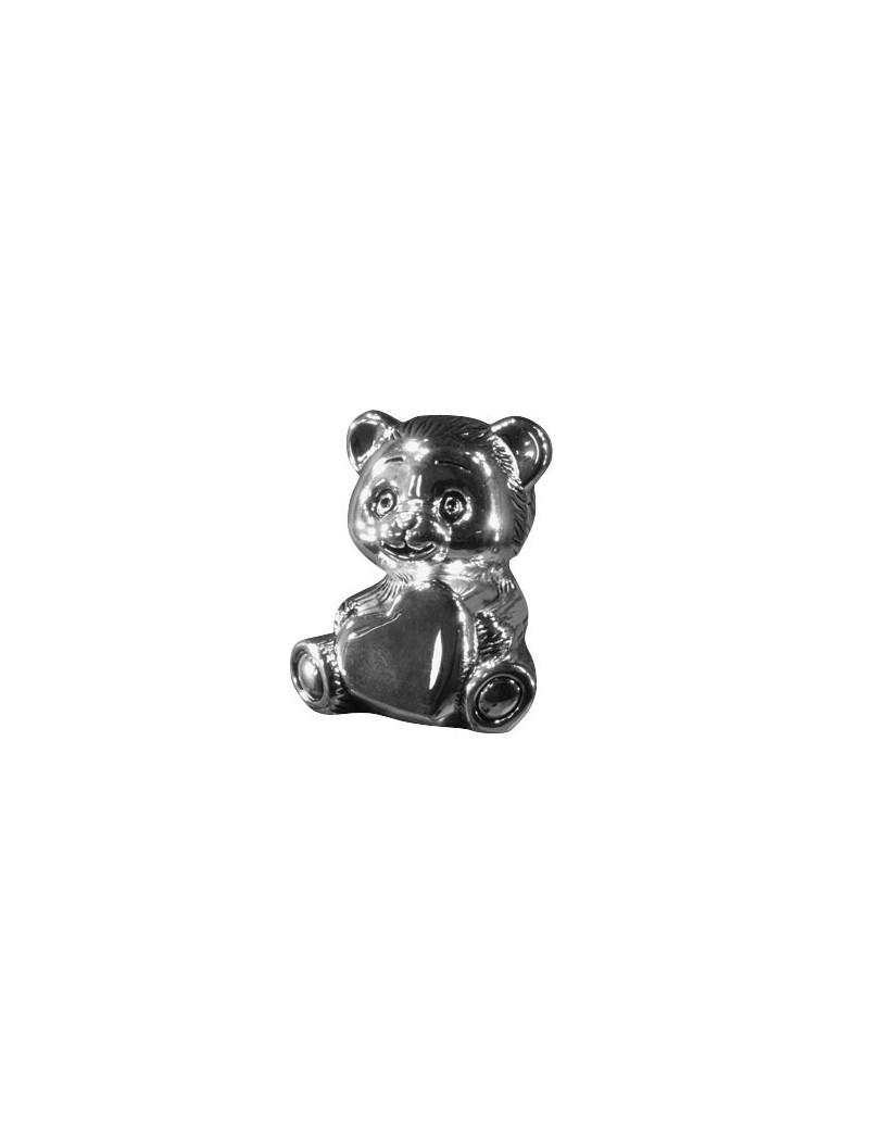 Sparebøsse - Teddy i Sølvplet