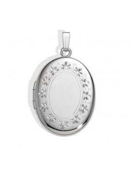 Medaljon Sølv m/kæde