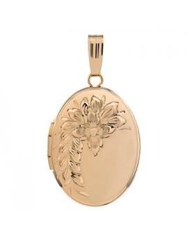 Medaljon Påvalset Guld m/ kæde