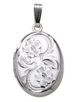 Medaljon 925 45 cm kæde