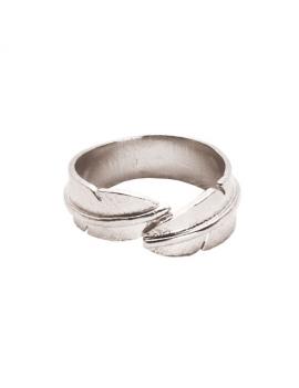 Fjer - Rhodineret ring