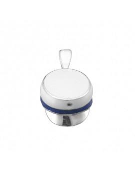 Vedhæng HH/HF-hue med blå og hvid emalje 925