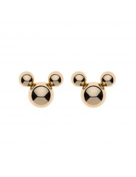 9 kt. guld ørestikker Mickey Mouse af 3 kugler