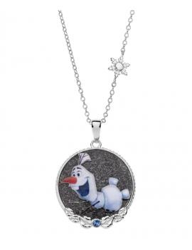 Sølv halskæde med Olaf. -...