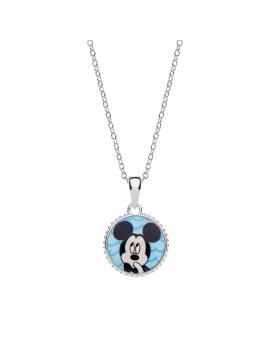 Sølv halskæde med Mickey...