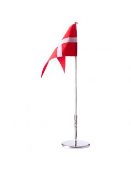 Forkromet flagstang uden...