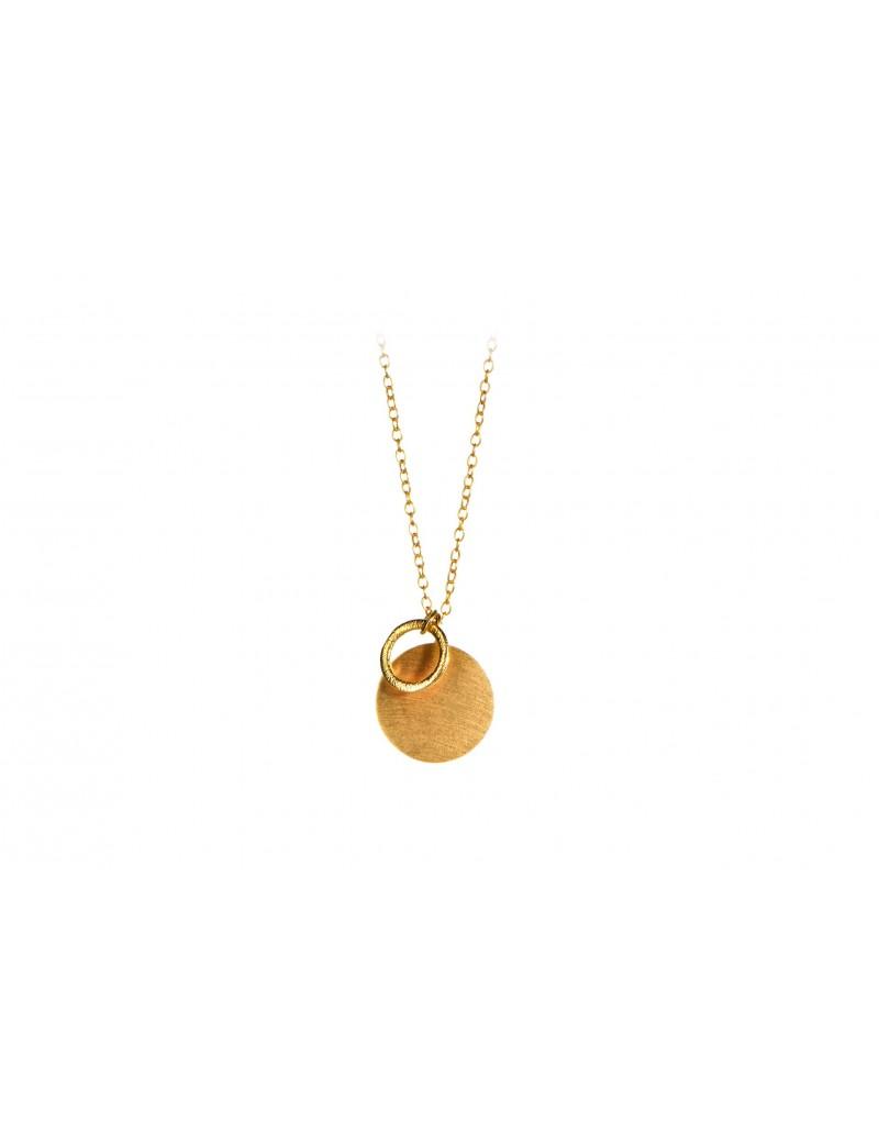 Coin & Circle Necklace