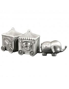 Elefant med 2 vogne, Min første Tand/Hårlok Fortinnet