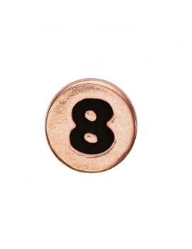 8 , Rose Goldpl Silver
