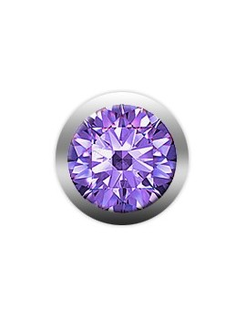 Purple Amathyst gemstone