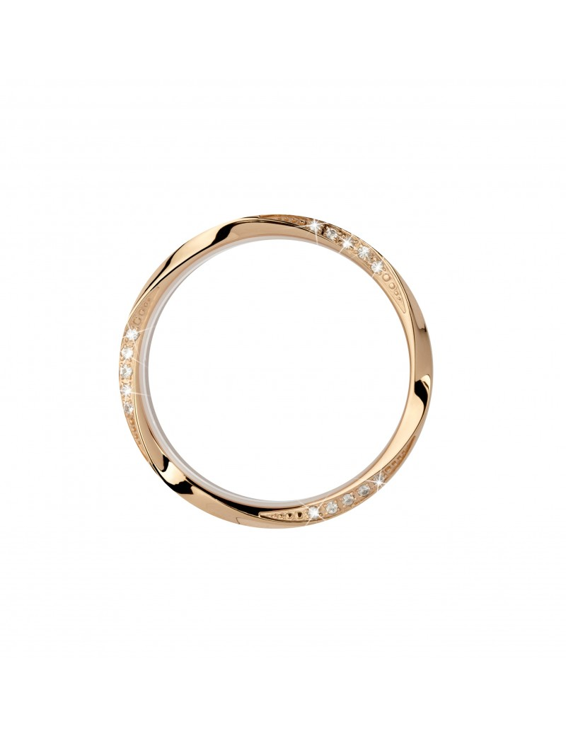 Top ring Wave, gold,15