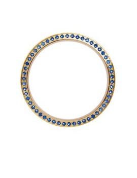 Guld topring, 54 blå safirer,