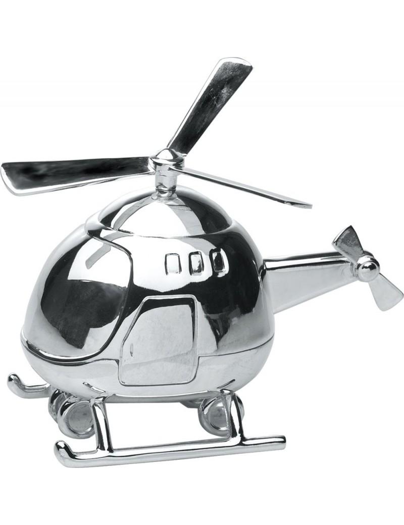 Sparebøsse - Helikopter i Sølvplet