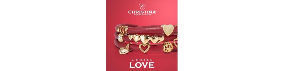 Charms i mange farver til læderarmbåndet fra Christina Jewelry og Watches.